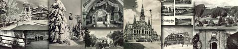Monochrome magic of old postcards